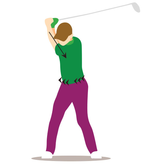 golf swing tutorial step 4