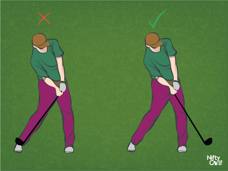 golf shoulder position