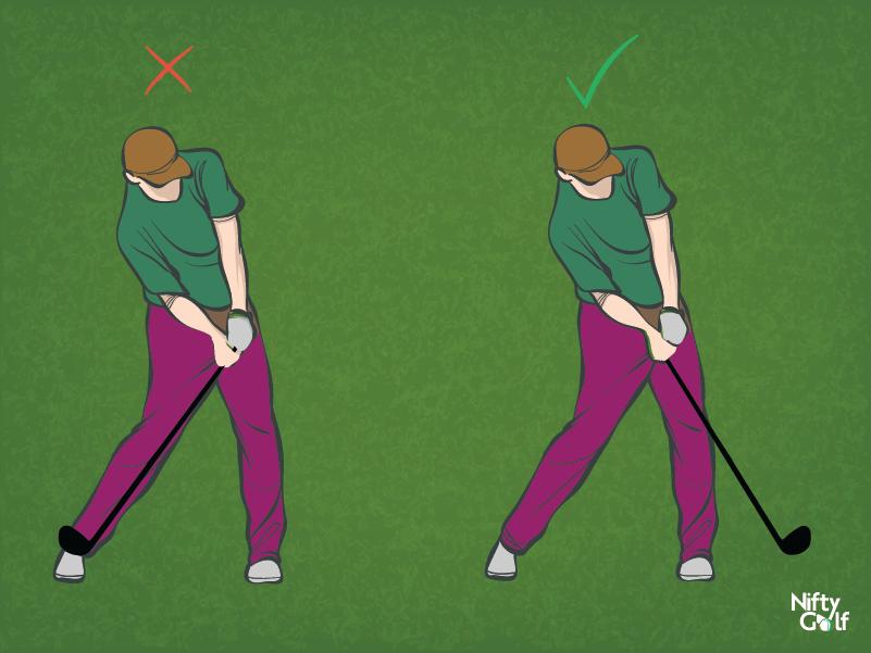 golf shoulder position