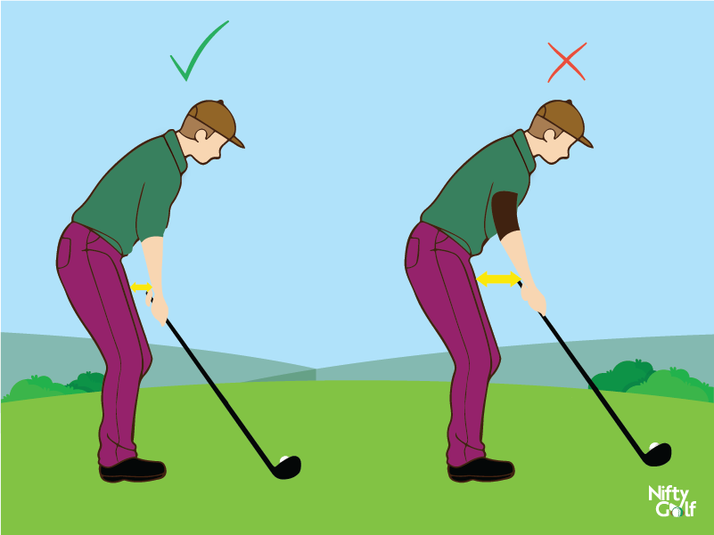 golf standing position leg distance