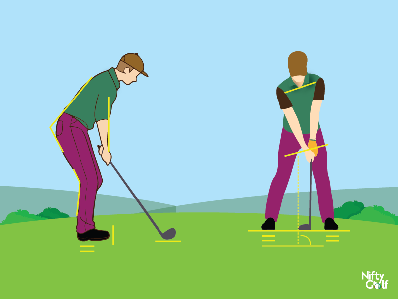 golf standing position