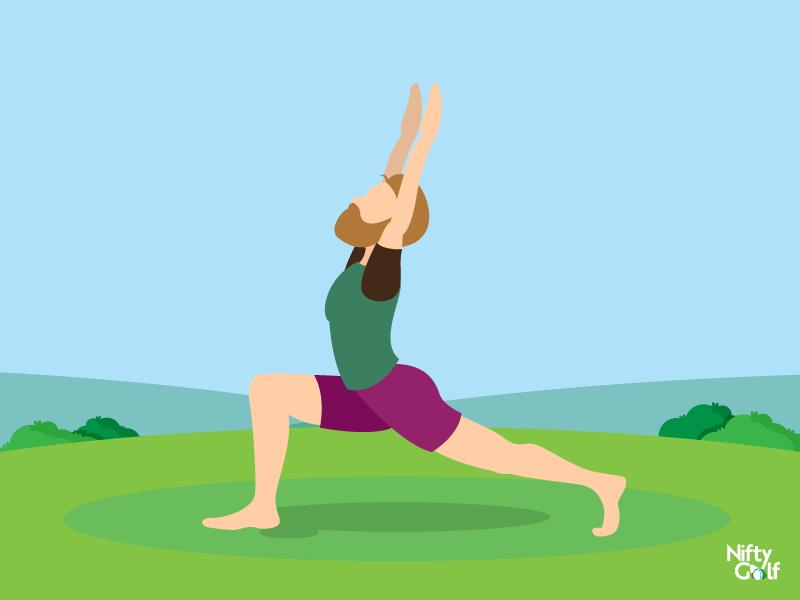 golf hip stretching