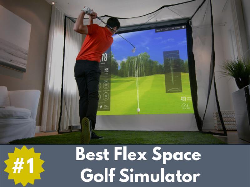 the best flex space golf simulator
