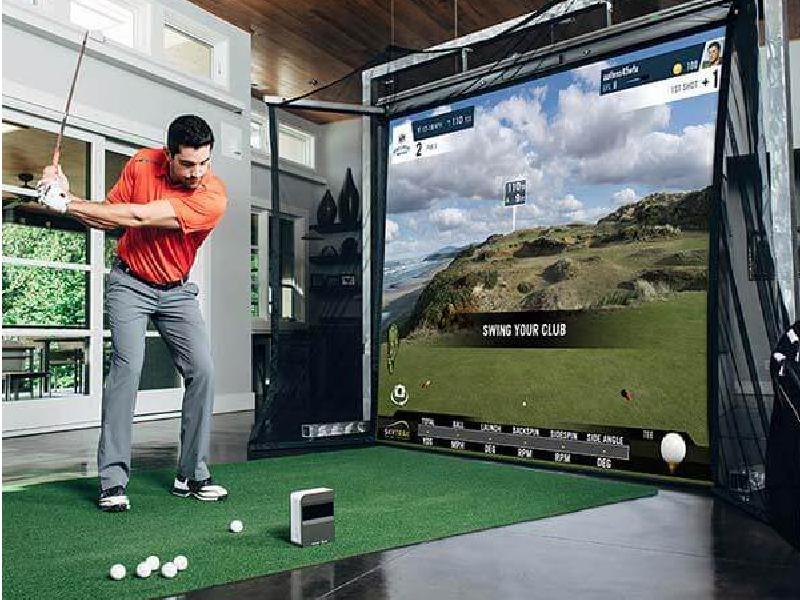 skytrak homecourse golf simulator studio