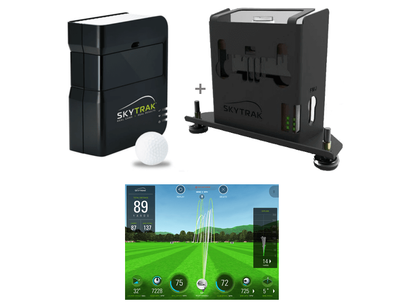 skytrak launch monitor and software