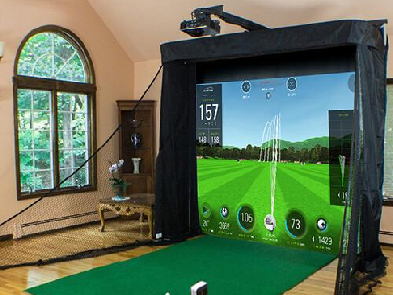 skytrak platinum golf simulator studio