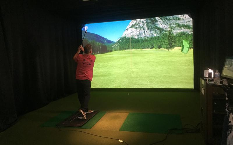 SkyTrak Compact Golf Simulator Studio
