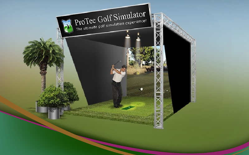 protee ultimate golf simulator package