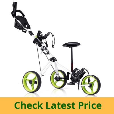 Tangkula Golf PushCart Swivel Foldable 3 Wheel review