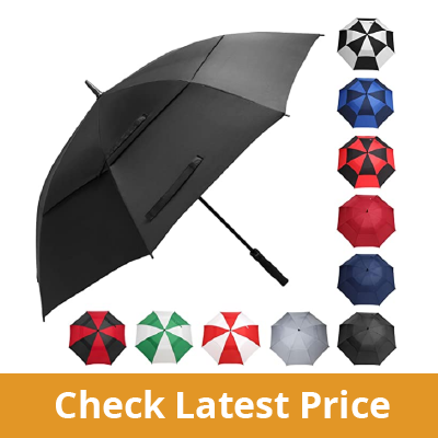 BAGAIL Golf Double Canopy Vented Automatic Open Stick Umbrella review