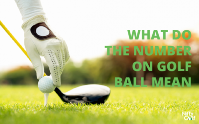 What do the numbers on golf ball mean?