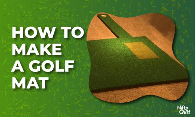 How to make a golf mat