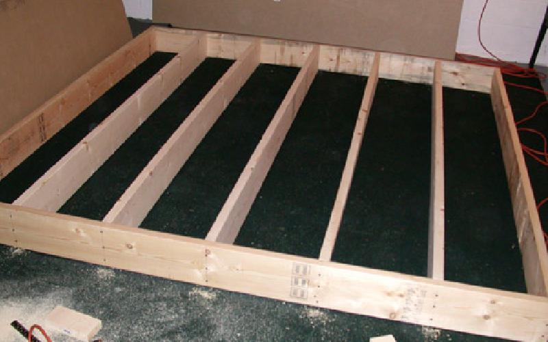 indoor putting green framing