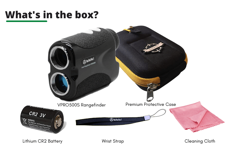 What's In The VPRO500S Laser Rangefinder Box
