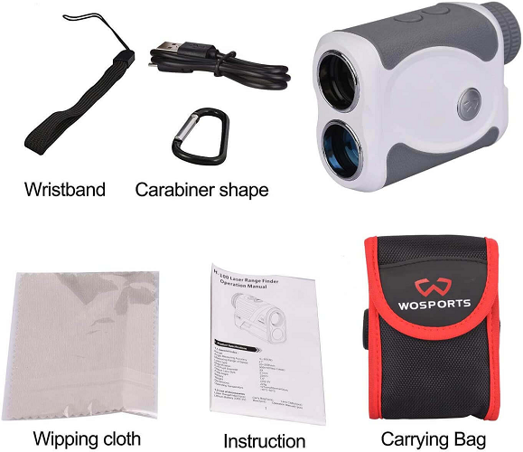 What's in the Wosports Golf Rangefinder Package