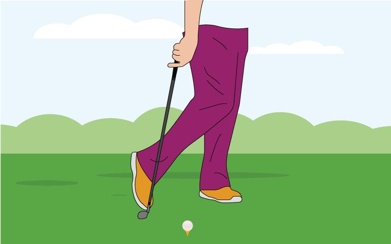 golf footwork