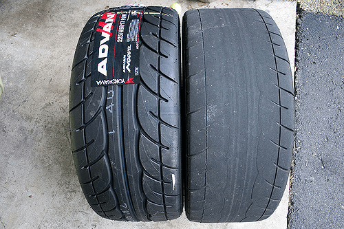 old vs new tyre