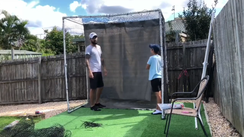 Attach the net and shade cloth