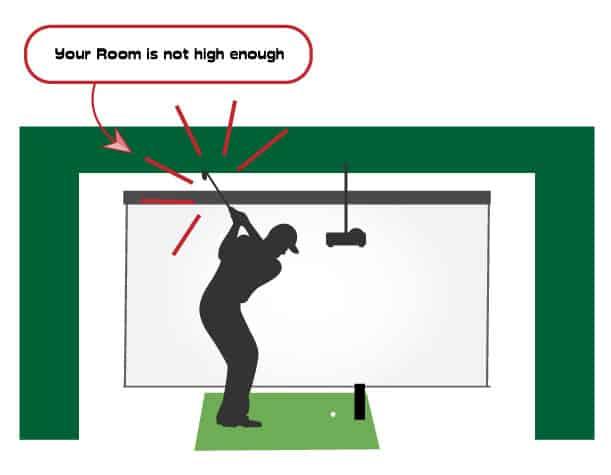 golf simulator room not high enough