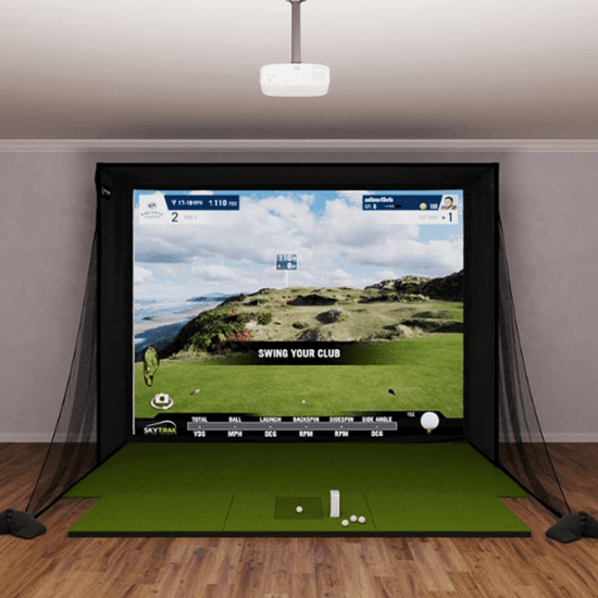 skytrak sig12 golf simulator package