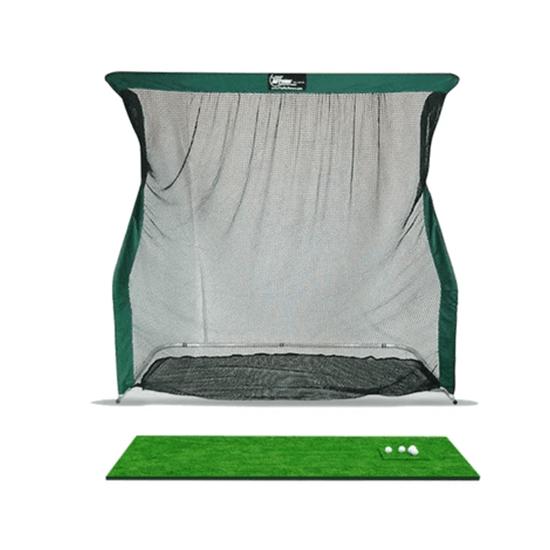 optishot golf simulator with a net