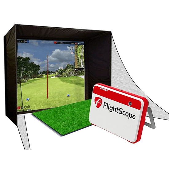 fllightscope launch monitor with simulator studio