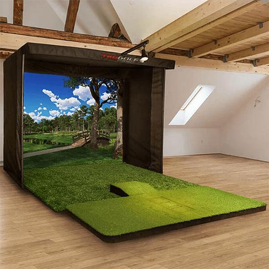 trugolf vista 10 pro golf simulator package