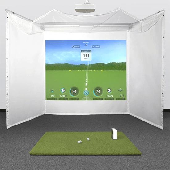 skytrak retractable golf simulator studio