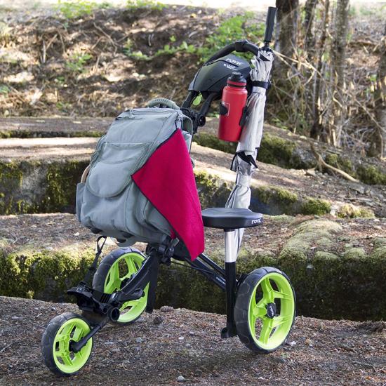 Rovic RV1D 3-Wheel Disc Golf Push Cart Review